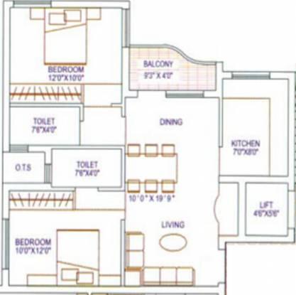 Agni Lakshmi Kripa (2BHK+2T (891 sq ft) Apartment 891 sq ft)