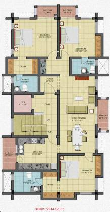 Newry Picasso (3BHK+3T (2,214 sq ft) Apartment 2214 sq ft)
