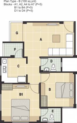 Rudra Aarambh (2BHK+2T (900 sq ft) Apartment 900 sq ft)