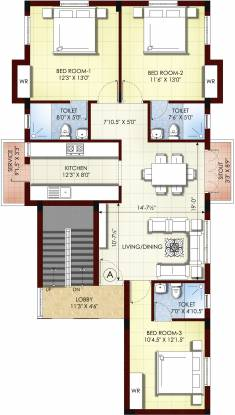 Kgeyes Kamdhar Nagar (3BHK+3T (1,400 sq ft) Apartment 1400 sq ft)