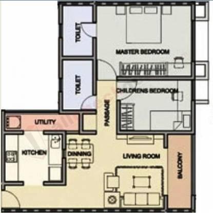 Indiabulls Centrum (2BHK+2T (919 sq ft) Apartment 919 sq ft)