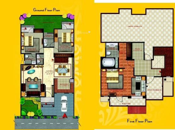 Niho Scottish Garden (3BHK+3T (1,800 sq ft) + Pooja Room Villa 1800 sq ft)