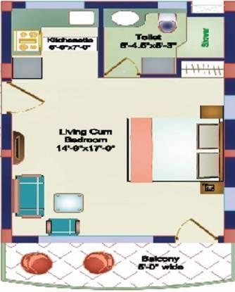Shikhar Pine Greens (1BHK+1T (598 sq ft) Apartment 598 sq ft)