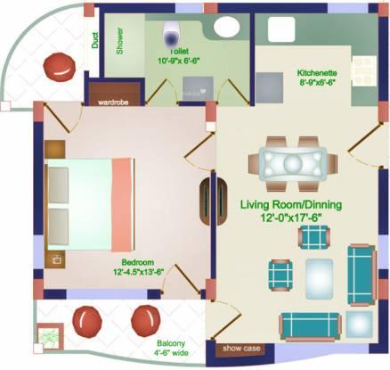 Shikhar Pine Greens (1BHK+1T (753 sq ft) Apartment 753 sq ft)
