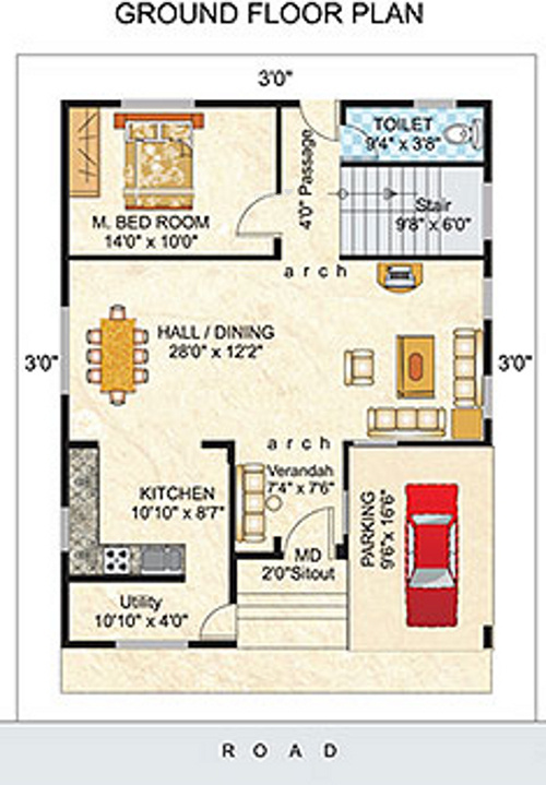 Ieglo Krishna Kuteer White House Phase 2 (4BHK+4T (2,650 Sq Ft)