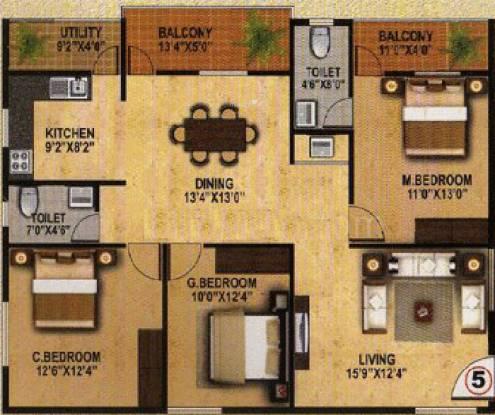 AR Maa Brindavan (3BHK+2T (1,503 sq ft) Apartment 1503 sq ft)