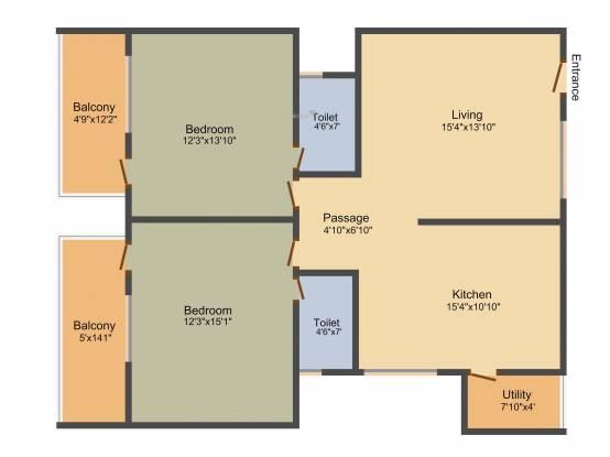 Ankshu Platina (2BHK+2T (1,315 sq ft) Apartment 1315 sq ft)