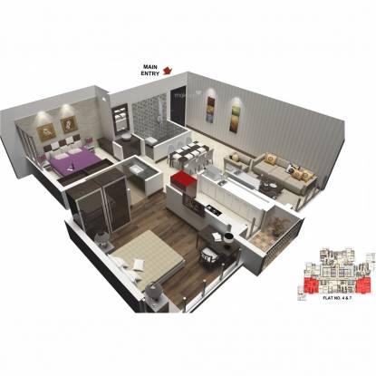 Marathon Nexzone (2BHK+2T (1,070 sq ft) Apartment 1070 sq ft)