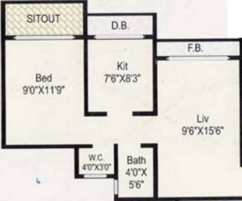 Nine Sundaram Plaza (1BHK+1T (550 sq ft) Apartment 550 sq ft)