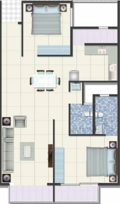 Mahaghar Nest (2BHK+2T (1,063 sq ft) Apartment 1063 sq ft)