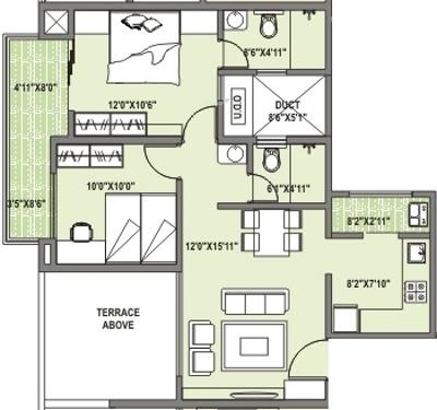 Concord Prima Domus (2BHK+2T (914 sq ft) Apartment 914 sq ft)