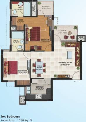 Hollywood Heights (2BHK+2T (1,290 sq ft) Apartment 1290 sq ft)