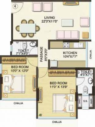 Kamala Nav Natraj (2BHK+2T (686 sq ft) Apartment 686 sq ft)