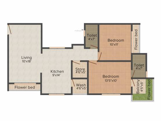 Happy Home Nest View (2BHK+2T (1,302 sq ft) Apartment 1302 sq ft)