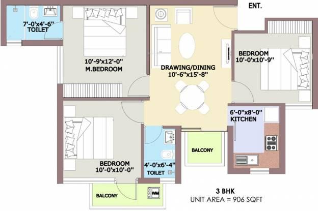 BPTP Park Elite Premium Villa (3BHK+2T (906 sq ft) Villa 906 sq ft)