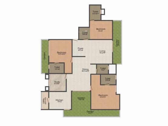 Fomra Jardin (3BHK+4T (2,374 sq ft) Apartment 2374 sq ft)