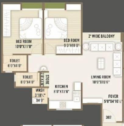 Universal Bilvam Paradise (3BHK+3T (1,404 sq ft) Apartment 1404 sq ft)