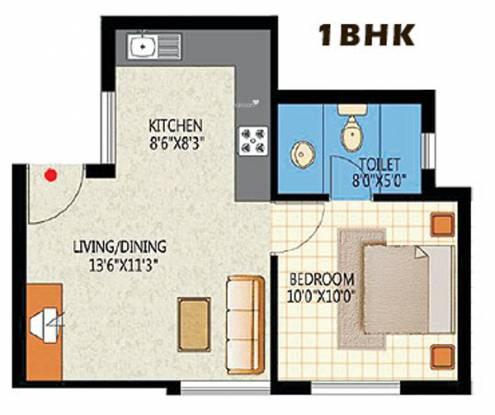 Martin Nandavanam (1BHK+1T (485 sq ft) Apartment 485 sq ft)