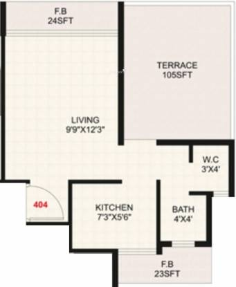 Raj Apartment (1BHK+1T (540 sq ft) Apartment 540 sq ft)