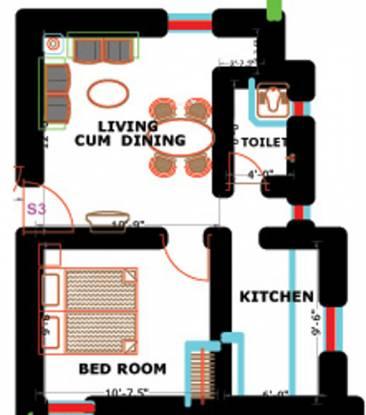 PVK Nakshatra (1BHK+1T (464 sq ft) Apartment 464 sq ft)