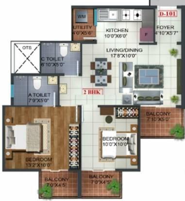 Prospect Princeton (2BHK+2T (930 sq ft) Apartment 930 sq ft)
