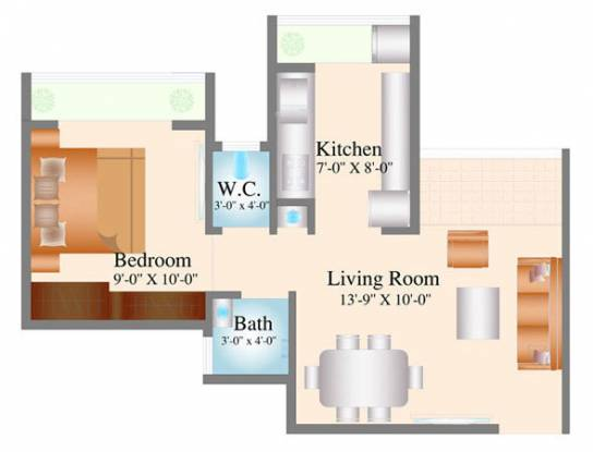 Navkar City Phase 1 (1BHK+1T (515 sq ft) Apartment 515 sq ft)