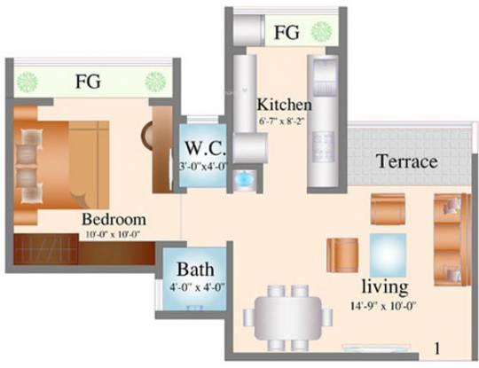 Navkar City Phase 2 (1BHK+1T (530 sq ft) Apartment 530 sq ft)