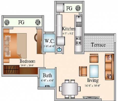 Navkar City Phase 2 (1BHK+1T (615 sq ft) Apartment 615 sq ft)