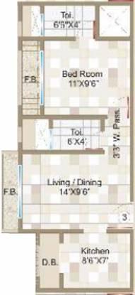 Rite Advent (1BHK+2T (662 sq ft) Apartment 662 sq ft)