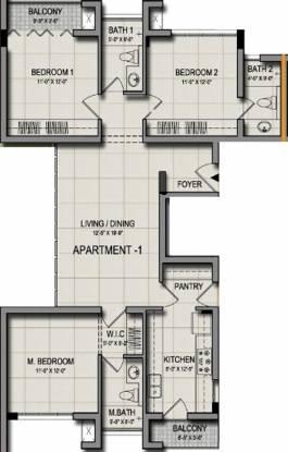 Maaruthi Raj Palani (3BHK+3T (1,573 sq ft) Apartment 1573 sq ft)