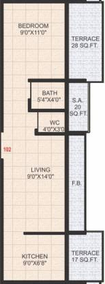 Evergreen Anand Avenue (1BHK+2T (680 sq ft) Apartment 680 sq ft)