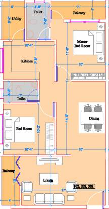 CMRS North Star (2BHK+2T (1,126 sq ft) Apartment 1126 sq ft)