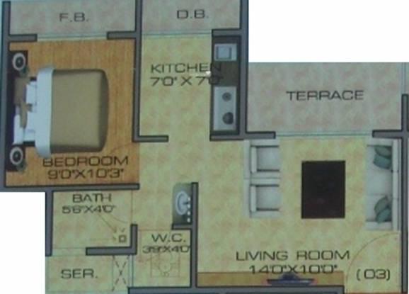 Brij Heights (1BHK+1T (670 sq ft) Apartment 670 sq ft)