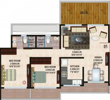 Kamla Habitat (2BHK+2T (1,200 sq ft) Apartment 1200 sq ft)
