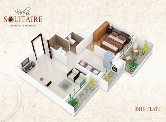 Kuber Krishna Solitaire (1BHK+1T (595 sq ft) Apartment 595 sq ft)