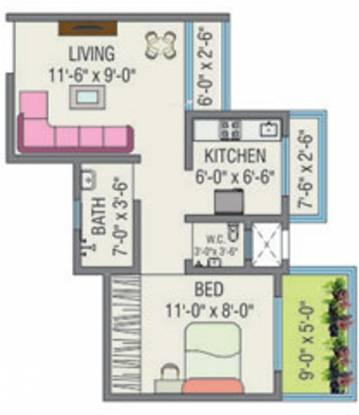 JSB Nakshatra Greens (1BHK+1T (540 sq ft) Apartment 540 sq ft)