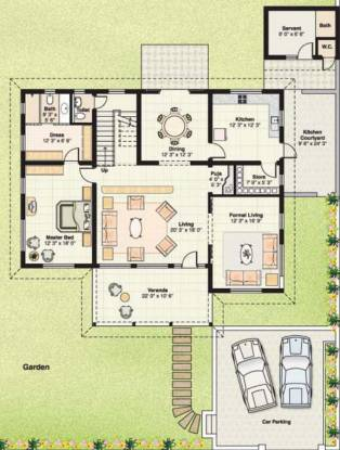 Saumya Aryaman (4BHK+4T (2,520 sq ft)   Servant Room Villa 2520 sq ft)