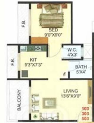 Pramukh Residency (1BHK+1T (630 sq ft) Apartment 630 sq ft)