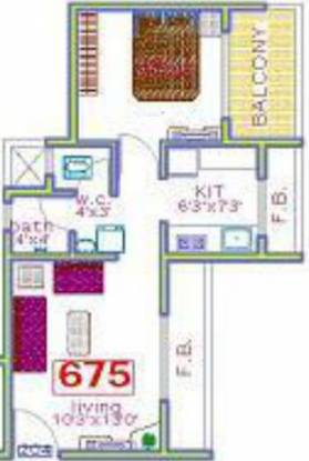 Panchnand Heights (1BHK+1T (675 sq ft) Apartment 675 sq ft)