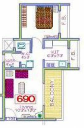 Panchnand Heights (1BHK+1T (690 sq ft) Apartment 690 sq ft)