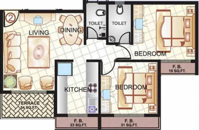 Sai Manomay (2BHK+2T (1,060 sq ft) Apartment 1060 sq ft)