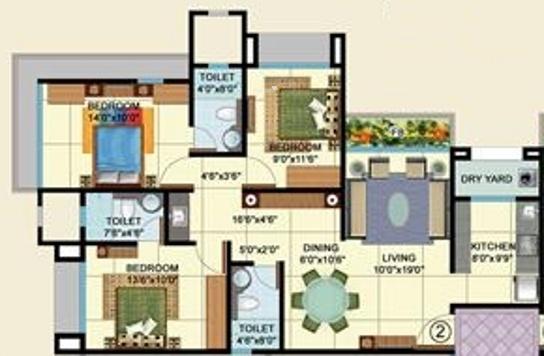 Veena Laya (3BHK+3T (1,565 sq ft) Apartment 1565 sq ft)