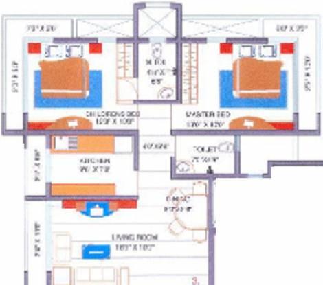 Leo Sarvodaya Apartment (2BHK+2T (1,177 sq ft) Apartment 1177 sq ft)