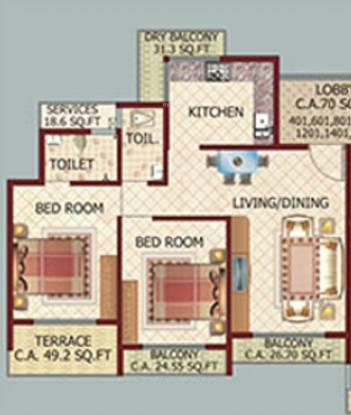 Shree Tower (2BHK+2T (1,160 sq ft) Apartment 1160 sq ft)