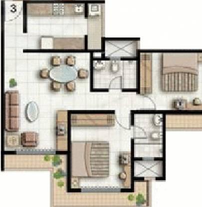 Supreme Lake Homes (2BHK+2T (900 sq ft) Apartment 900 sq ft)