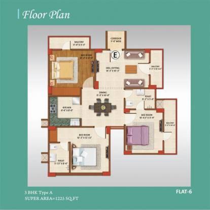 Avj Home (3BHK+2T (1,225 sq ft) Apartment 1225 sq ft)