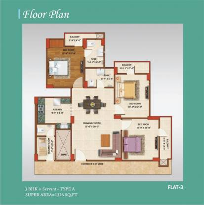 Avj Home (3BHK+2T (1,325 sq ft)   Servant Room Apartment 1325 sq ft)