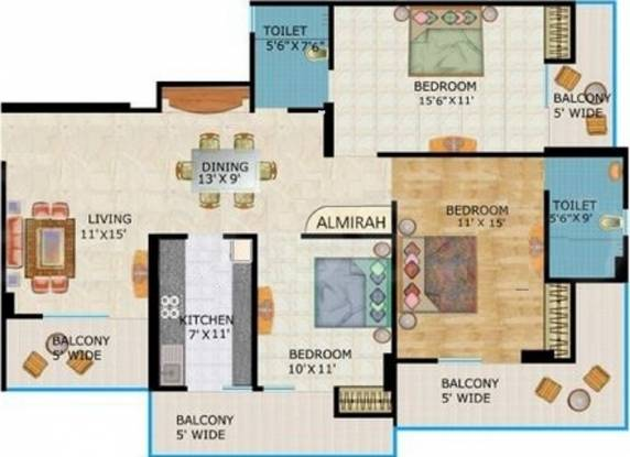 Crossings Infra (3BHK+2T (1,720 sq ft) Apartment 1720 sq ft)
