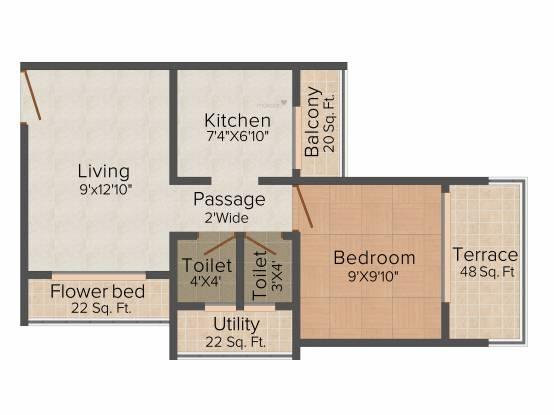 Dream Sai Elegance (1BHK+1T (700 sq ft) Apartment 700 sq ft)