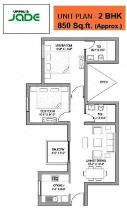 Uppal Jade (2BHK+2T (850 sq ft) Apartment 850 sq ft)